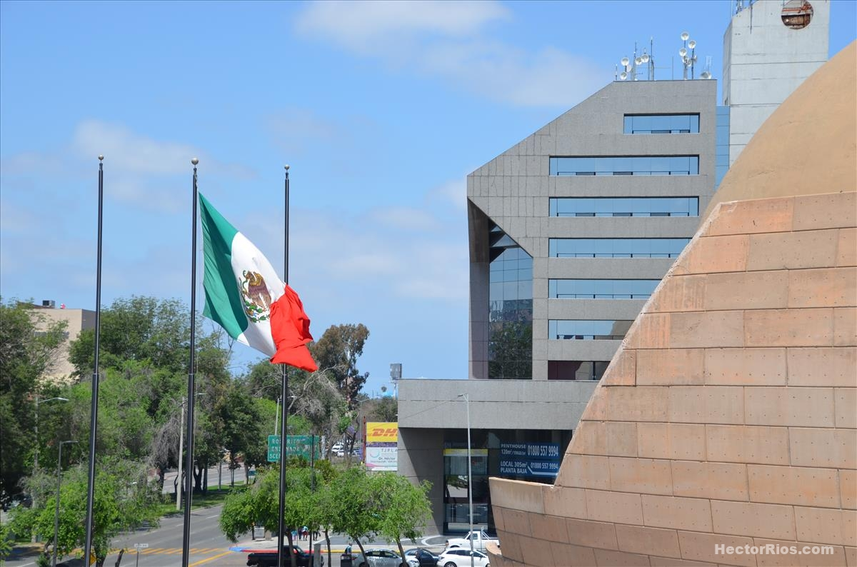 Bandera de México en Tijuana